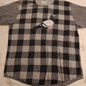 Staple brand checker board shirt. Pigeon Brand